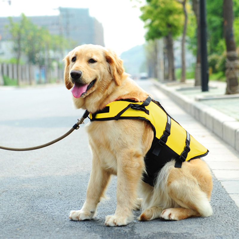 2Colors Oxford Dogs Pet Swimwear Pet Rescue Body Clothing Dog Swim Suit Beach Dog Pet Life Jackets For Small Dogs Pet Supplies(China (Mainland))