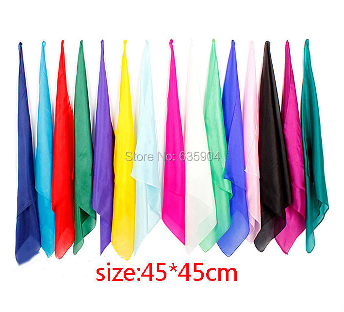 Learning & education Magic silk Magic Trick 5pcs/lot 45cm for magic prop wholesale(China (Mainland))