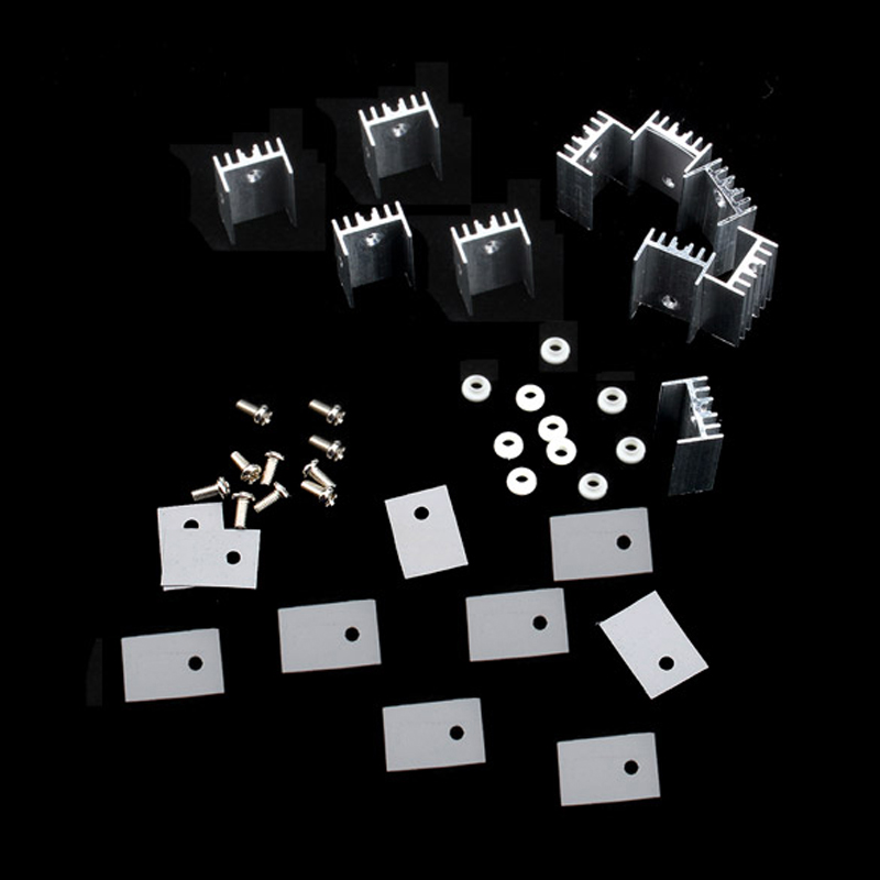 NI5L 10pcs/lot Heatsink Heat Sink With Screw Sets For TO-220 Fast Shipping(China (Mainland))