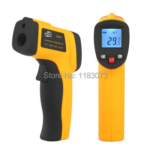 100% Original Body Surface Non-Contact Laser Infrared Digital IR Thermometer -50~380 Degrees GM300 Big Discount DropShipping(China (Mainland))