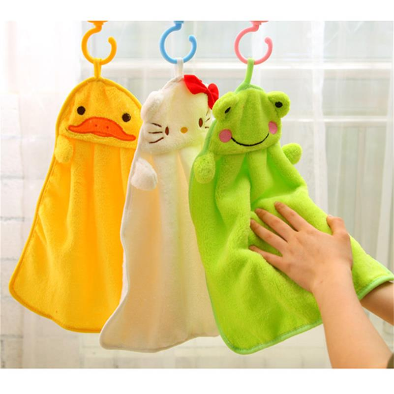Colorful sweet candy colored cartoon baby towel super soft coral fleece kid child towel wipe sweat hung towel(China (Mainland))
