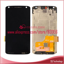 5pcs/lot For Motorola Droid Turbo 2 XT1580 XT1581 LCD Display with Touch Screen Digitizer and frame full set black free shipping(China (Mainland))