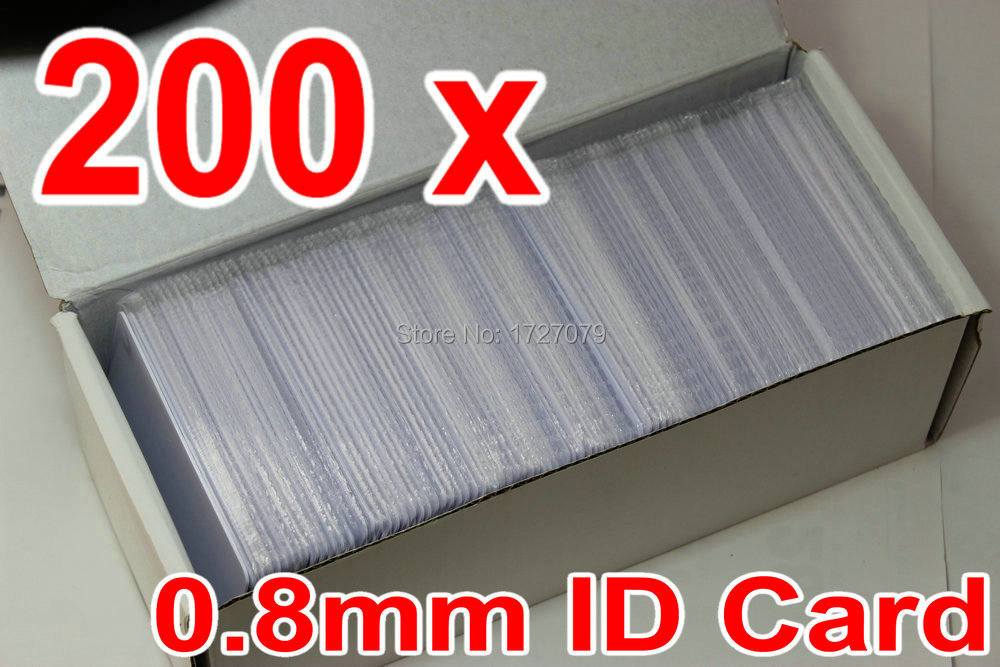 0.8mm thickness 200 pcs/ Lot ID Card RFID Proximity Card 125KHz Card for Time attendance and ID Card Access Control Exit Button(China (Mainland))