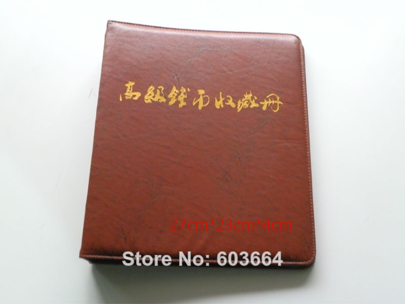 OEM  Large - sized  Replacement blank Coin Album Binder  27cm*23cm*4cm , contain 60pcs inner page <br><br>Aliexpress