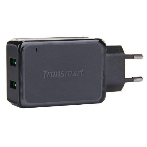 Tronsmart EU Plug TS-WC2F 2 USB Ports 2A Max Quick Charge 2.0 Charger Kit Universal Android Smart Phone Travel Charger