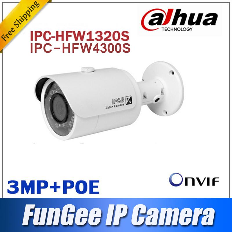 Dahua IPC-HFW1320S to replace IPC-HFW4300S IR 1080p IP Bullet Camera 3MP Onvif Full HD Day&Night Network with POE CMOS Outdoor(China (Mainland))