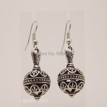 EQ116 Ethnic Tibetan Silver 4.5cm*1.9cm Bottle Vintage Earrings For Women Girls 2014 New Jewelry Bijouterie(China (Mainland))
