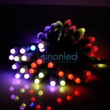 50pcs led modules 12mm IP65 Waterproof Full Color Digital Diffused RGB LED Pixel WS2801 2801 DC5V(China (Mainland))