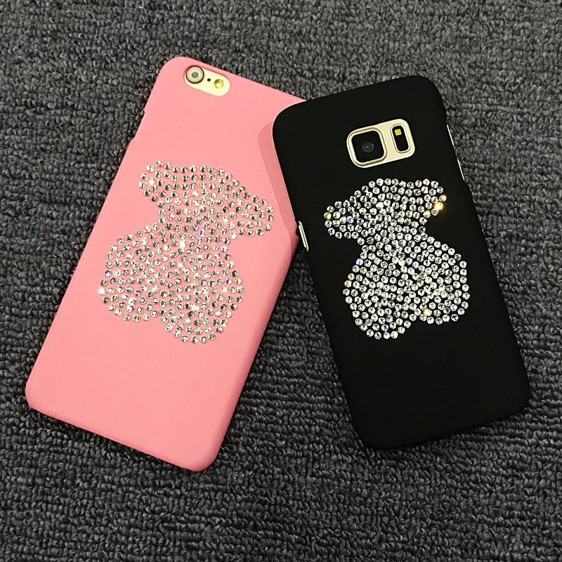 For iPHONE 7 Case Glitter Shine Bling Bling Bear Jewels DIY Luxury Phone Cover Case For iphone 6 6S 6LUS 6S PLUS 7PLUS 5 5S(China (Mainland))