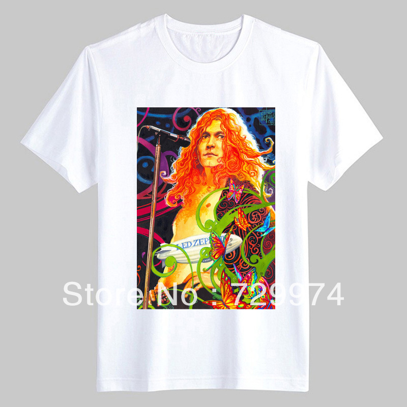 art t shirt Led Zeppelin robert plant the unique rock singer(China (Mainland))