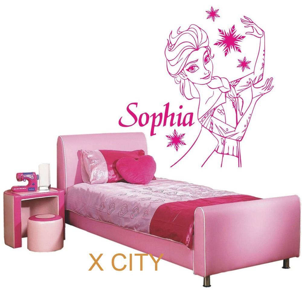 Achetez en gros princess wall stencils en ligne des for Pochoir chambre enfant
