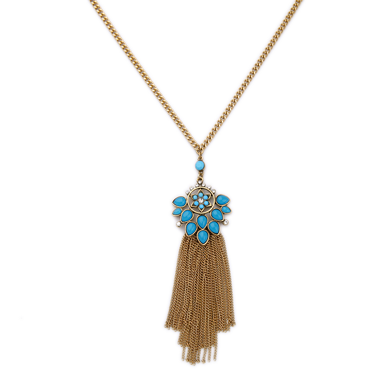 New Brand Alloy Gold Tassel Necklace Long Sweater Chain Online Shopping India Jewelry Vintage Necklace(China (Mainland))