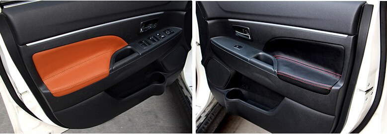 Genual leather door armrest  cover for  asx  2013 2014 auto interior accessories<br><br>Aliexpress
