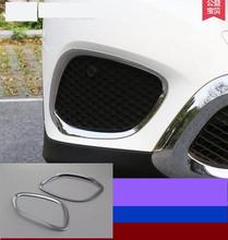 Buy 2pcs ABS Chrome Front Fog Light Lamp Cover Trim Frame Sticker Mercedes Benz GLC Class X205 GLC200 GLC250 GLC300 2015 2016 for $33.84 in AliExpress store