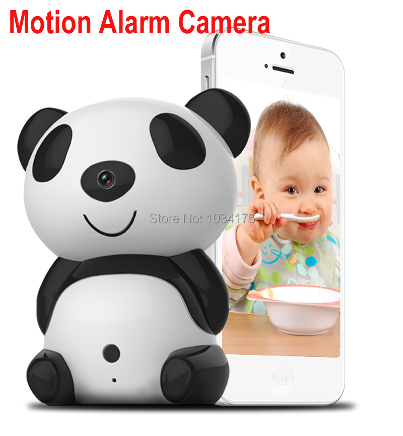 Фотография Very small cartoon panda IP wifi camera motion detection push notification wireless IP camera