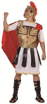 Оптовая продажа - новинка стиль карнавальный костюм косплей ну вечеринку одежда для взрослого человека трикотажные и кожаный костюм воина красный с