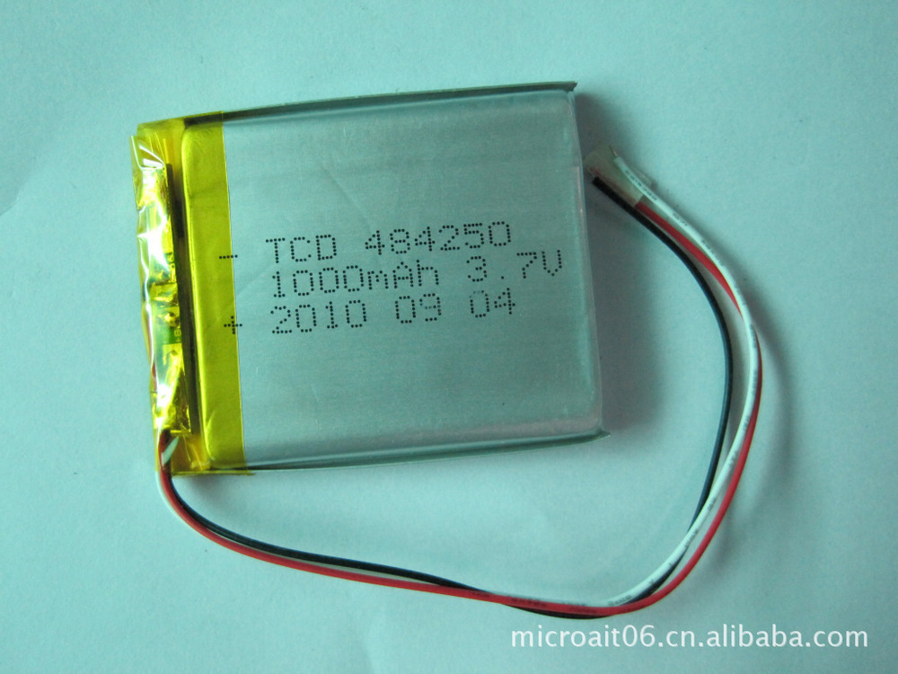 Manufacturers supply electric tools, medical equipment 484250,3.7 v, 1000mah lithium polymer battery(China (Mainland))