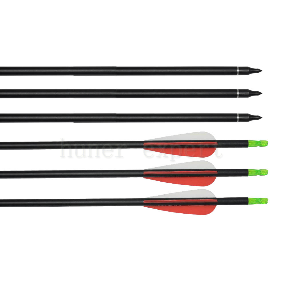 Adult or youth archery bow targeting 500 spine practice carbon arrow 30 5 with 3 arrow