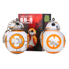 1PCS 2.2inch Star Wars The Force Awakens BB8 BB-8 R2D2 Droid Robot Action Figure stormtrooper Clone Trooper Strap New year toys