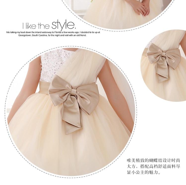 Скидки на Дети одеваются девушки с длинными рукавами свадебное платье девушки цветка платье принцессы пачки Корейский шампанское