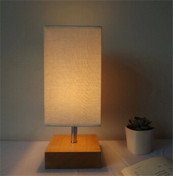fashion lighting europe wooden table lamp for bedroom&living room E27 beige white color table decor lamp fabric wood lamp DY-143(China (Mainland))