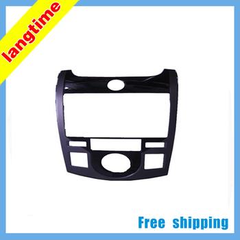 Free shipping-Car refitting DVD frame,DVD panel,Dash Kit,Fascia,Radio Frame,Audio frame for KIA FORTE COUPE,2DIN