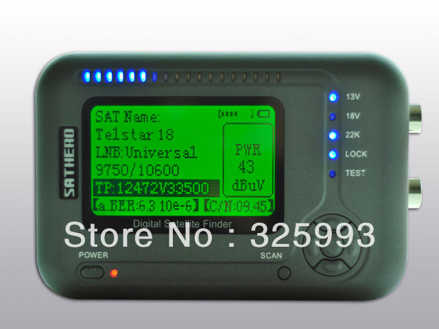 sathero digital tv satellite finder meter signal SH-200+ DVBS,DVB-S2 Signal - China Satellite Equipment LLC store