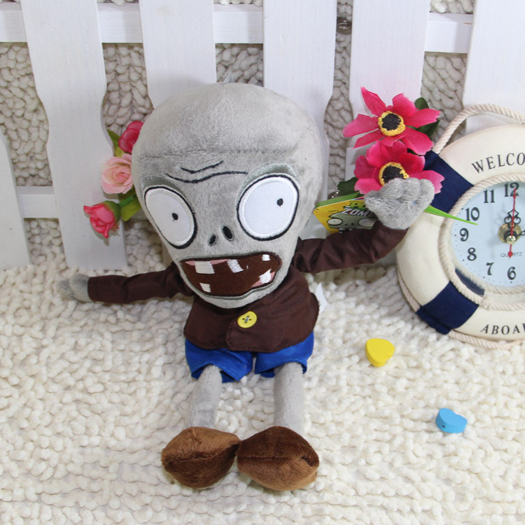 30CM 12'' Horrific Soft Plush Toy Grey Zombie Doll Game Figure Statue Boy Toy Children Gifts Party Hot Sale Vampire Good Quality(China (Mainland))