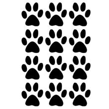 Set of 12 Dog Paw Prints Decals Vinyl Sticker For Truck SUV Car Window Bumper Laptop Locker Home Wall Glass