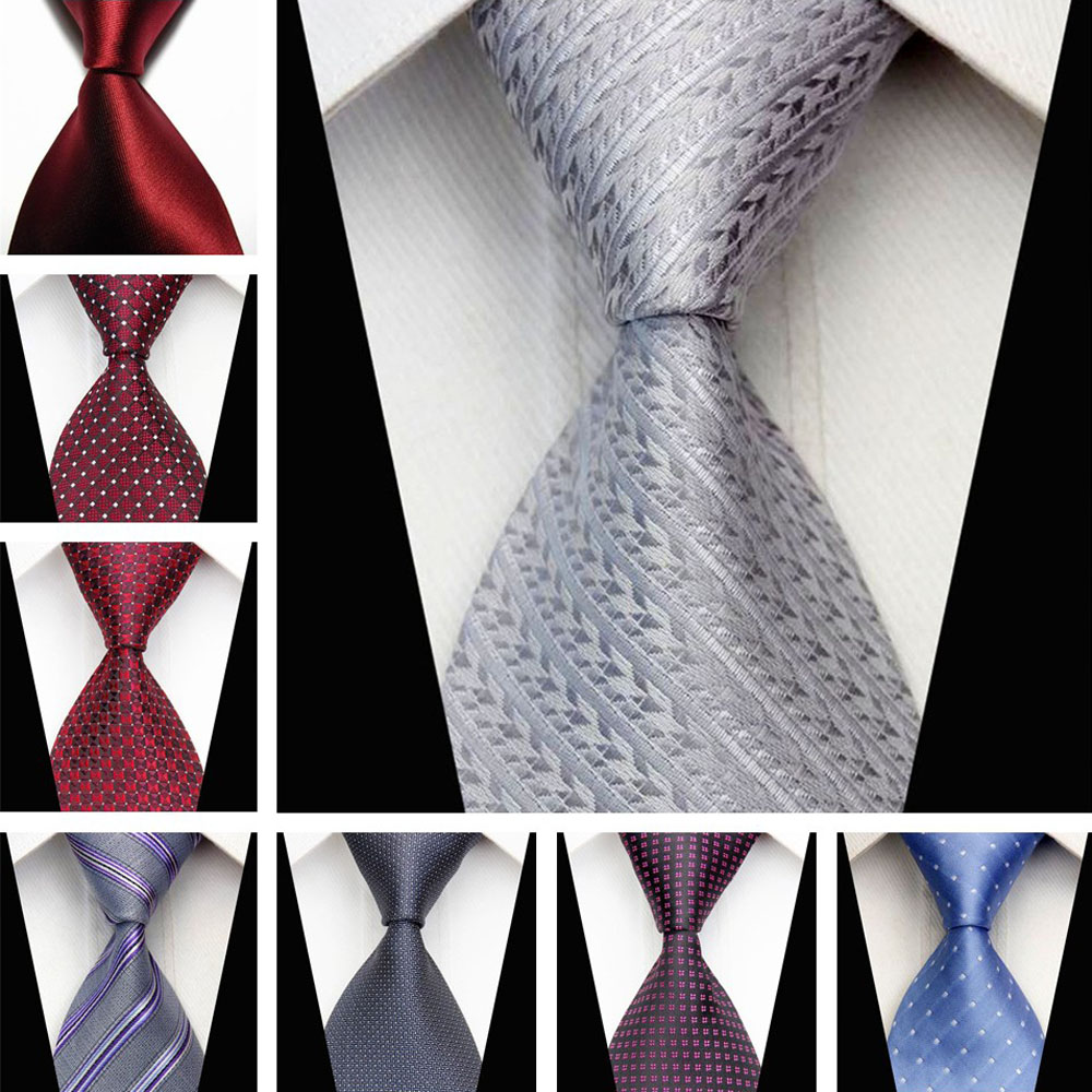 Business Accessories Men's Tie for Men Geometric Pattern 7.5cm Silk Necktie Black White Neckties for Men Wedding ST750031-78a(China (Mainland))
