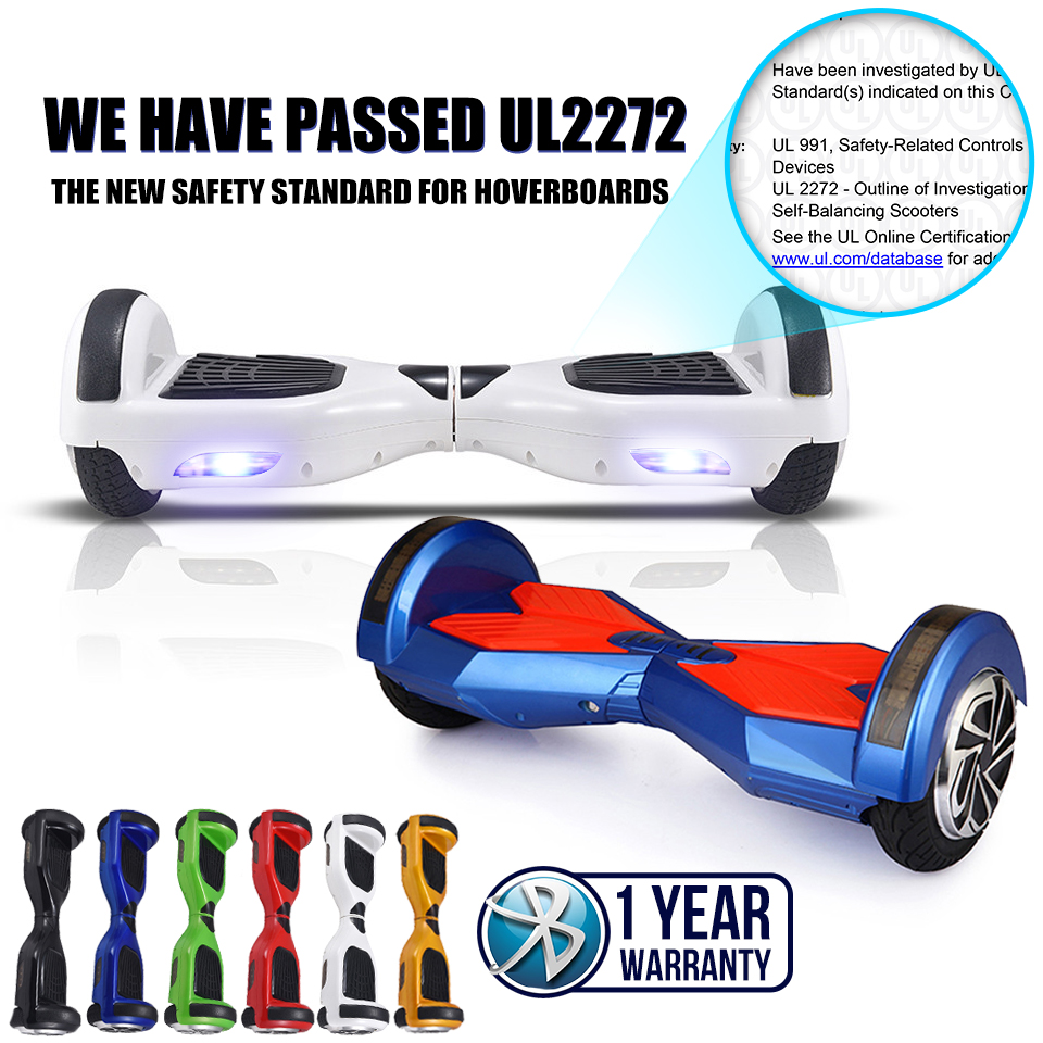 Pass UL2272 Hoverboard Skateboard 8 Inch Smart Balance 2 Wheel Electric Standing Scooter Unicycle Oxboard Overboard Hoover Board(China (Mainland))