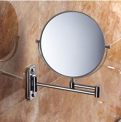 2016 Bathroom Mirror Chrome Wall Mounted 8 Inch Brass 3x 1x Magnifying Mirror Folding Makeup