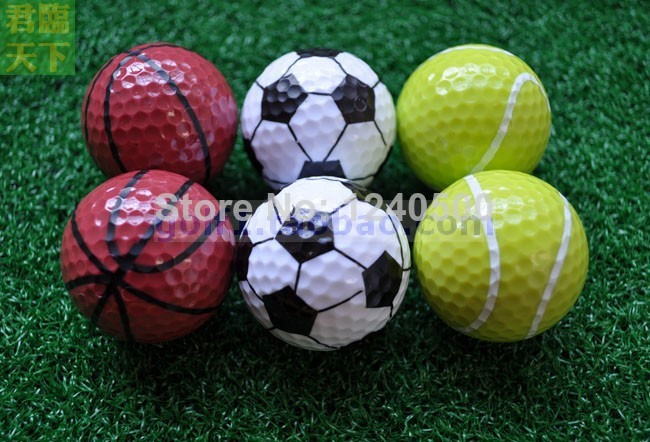Free Shipping Sports golf balls double ball for golf best gift for friend 6pcs/lot(China (Mainland))