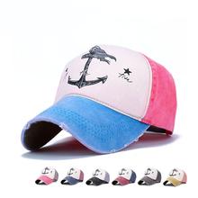 New arrival Pirate ship anchor hip hop mesh hat gorras planas flat hats outdoor baseball caps For Men Women(China (Mainland))