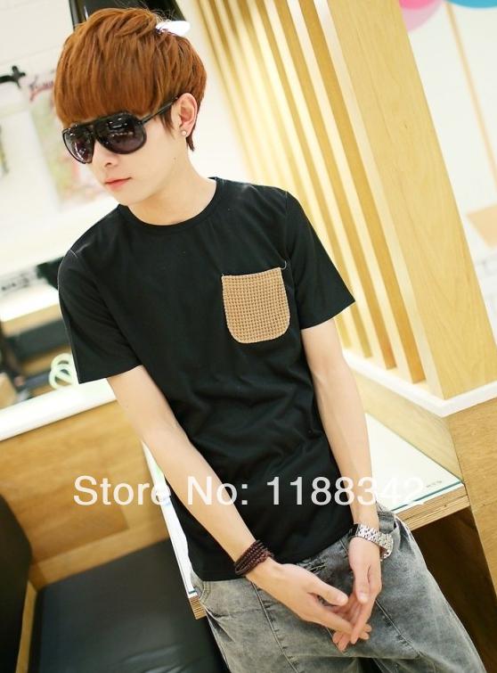 Men's summer fashion trends men's round neck short sleeve T-shirt new personalized fashion cotton men short sleeve T-shirt(China (Mainland))