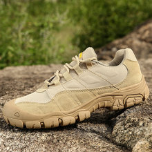 Homens ao ar livre caminhadas sapatos à prova dwaterproof água respirável tático combate exército botas deserto treinamento tênis anti-deslizamento sapatos de trekking(China)