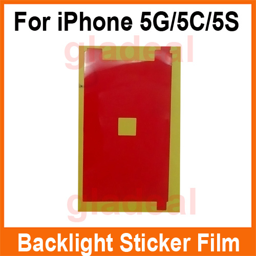 100 Pcs/Lot LCD Backlight Sticker Film Refurbishment Replacement Repair Spare Parts For  iPhone 5 5C 5S(China (Mainland))