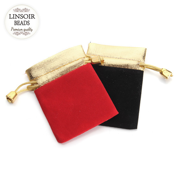 10Pcs 7x9cm High Quality Mixed Red Black Drawstring Pouch/Jewelry Bag Packaging Jewelry Holder Christmas/Wedding Gift Bag F1846(China (Mainland))