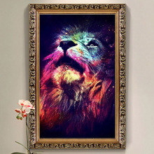 Newest 5D DIY Diamond Painting Lion Square Crystal Full Diamond Painting Cross Stitch Color Lions Looking Needlework Home Decor(China (Mainland))