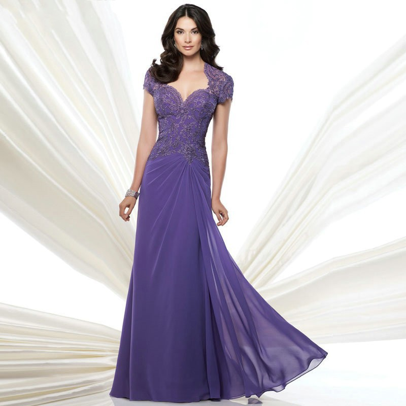 ... Cap Sleeve Sheath Mother of the Bride Dress from Reliable lace ladies