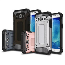 Hybrid Durable Armor Case For Samsung Galaxy J5 J500 / J7 J700 Silicone + PC Shockproof Hard Rugged Phone Cases Cover Back(China (Mainland))