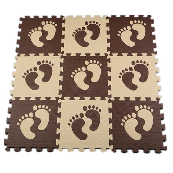 Eva Foam Puzzle Play Floor Mat Carpet Baby Crawling Mats Pad For Children foot print feet pattern(China (Mainland))