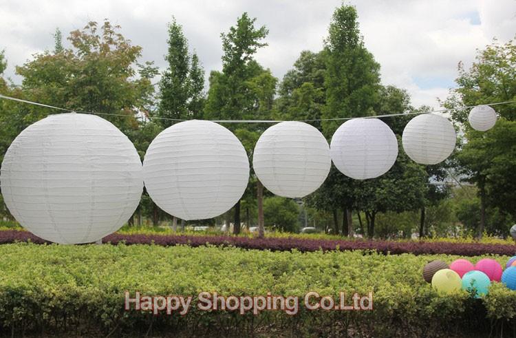 10 штук 12 дюймов 30 см свадьба китайская бумага фонарь свадьбы партии декор фонари подарок ремесло белого цвета