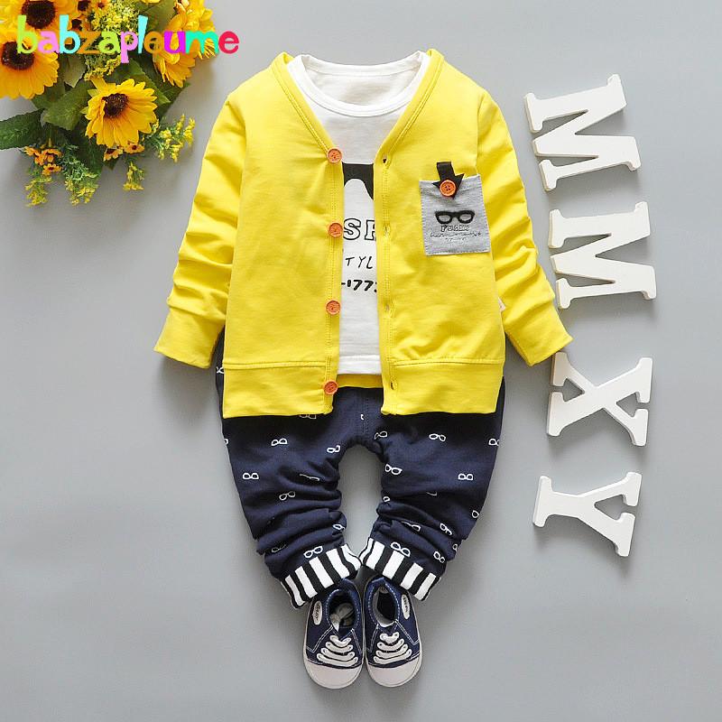 3PCS/0-3Years/Spring Autumn Toddler Baby Boy Suit Children Clothing Set Cardigan Jacket+T-Shirt+Pants Korean Kids Clothes BC1323(China (Mainland))