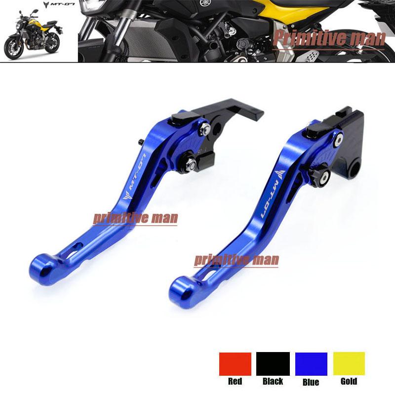 YAMAHA MT-07 MT 07 MT07 2014-2015 Motorcycle Accessories Short Brake Clutch Levers LOGO Blue - Primitive Man store
