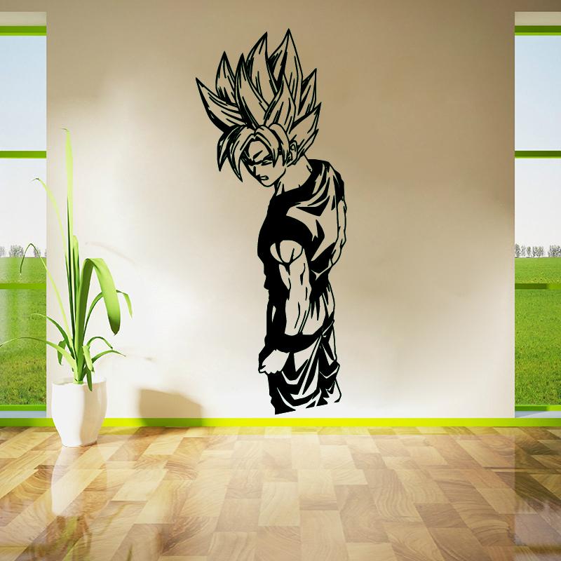 Wall Stickers Living Room Decor Wall Art Bedroom Decals Removable Vinyl  Wallpaper Super Saiyan Goku Dragon. Compare Prices on Dragon Ball Z Goku Wallpaper  Online Shopping