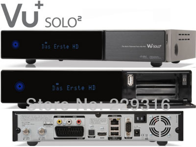 Newest Vu+ solo2 twin tuner decoder vu solo 2 vusolo2 Linux reciever 1300 MHz CPU2 dvb-s2 tuner STB digital satellite tv recever(China (Mainland))