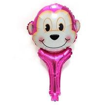 10 pçs/lote animal Mini Hand Held Balões por atacado balão de ar feliz decorações da festa de aniversário dos miúdos fontes do partido do chuveiro do bebê(China)