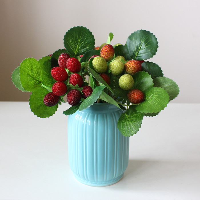 Online get cheap artificial strawberry plants aliexpress for Artificial fruit for decoration