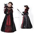 Halloween vampire princess children halloween costume Evil Queen kid party dress performance cosplay costumes